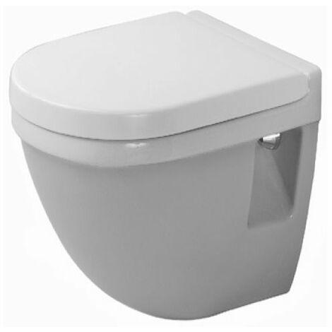 WC suspendu Duravit Starck 3 Compact 47,5 cm, lavable, Coloris: Blanc avec Wondergliss - 22020900001