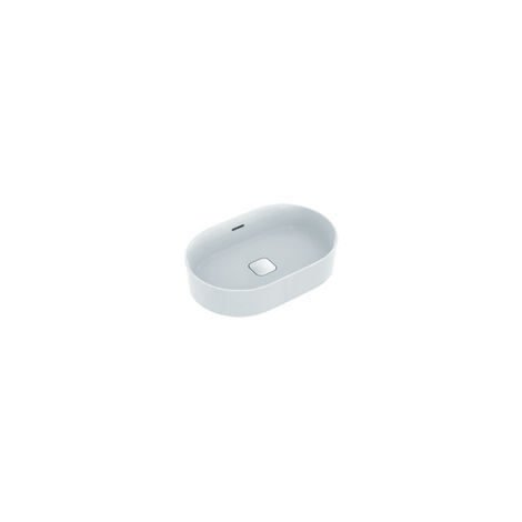 Ideal Standard   Strada II Plan vasque à poser ovale T3604, sans trou pour robinet, trop-plein, avec kit de fixation, 600x400 mm, Coloris: Blanc - T360401