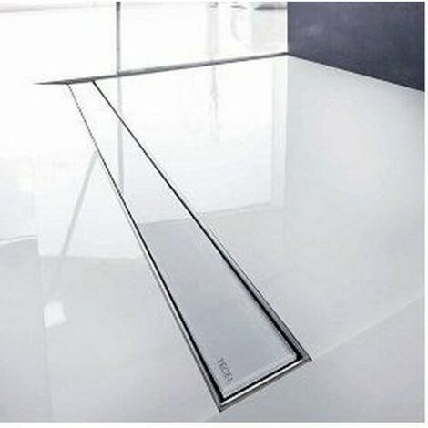 Couvercle en verre TECEdrainline pour caniveaux de douche droits, 6012, 1200mm, Coloris: Verre Noir - 601292