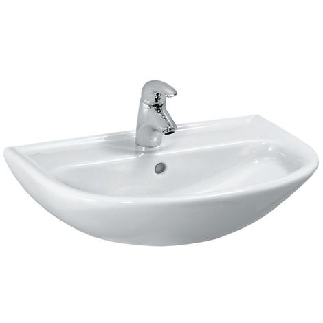Laufen PRO B Cuvette Compact, 1 trou pour robinet, avec trop-plein, 550x400, blanc, Coloris: Blanc avec LCC - H8149514001041