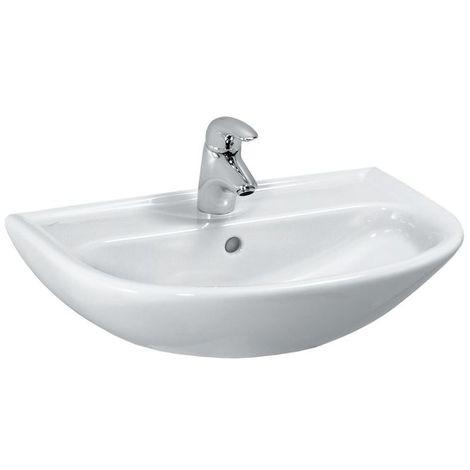 Laufen PRO B Cuvette Compact, 1 trou pour robinet, avec trop-plein, 550x400, blanc, Coloris: Blanc - H8149510001041