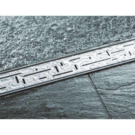 """Grille design TECEdrainline \""""lines\"""" pour receveurs de douche droits, 6007, 700mm, Exécution: Poli - 600720"""