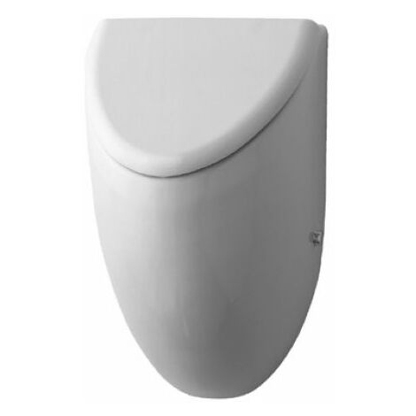 Duravit Urinal Fizz, aspiration par l'arrière, pour couvercle, blanc, Coloris: Blanc avec Wondergliss - 08233500001