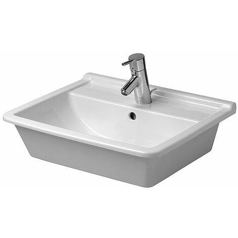 Duravit vasque à encastrer Starck 3 56cm, 1 trou pour robinet, Coloris: Blanc - 0302560000