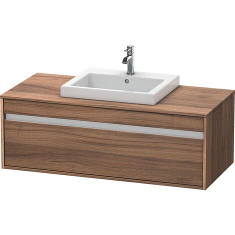Duravit Ketho Meuble sous-lavabo suspendu 6796, 1 tiroir, 1200mm, pour 1 lavabo encastré, central, Couleur (avant/corps): Décor noyer naturel - KT679607979