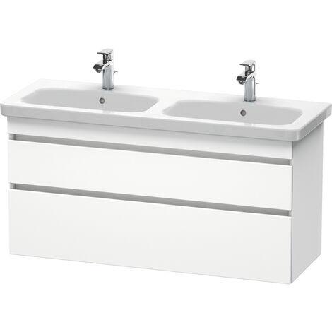 Duravit DuraStyle Meuble sous-lavabo suspendu 6498, 2 tiroirs, 1230mm, Couleur (avant/corps): Décor Naturel Noyer / Décor Blanc Mat - DS649807918