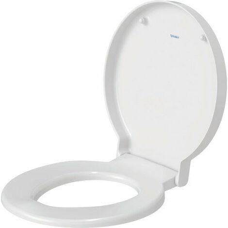 Duravit Siège de WC Starck 1 avec charnières SoftClose en acier inoxydable - 0065880099