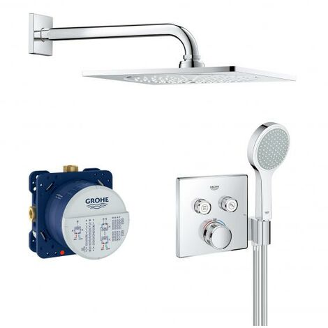 Système de douche encastré Grohe Grohtherm SmartControl, avec ensemble de douche de tête Rainshower F-Series 10, chromé - 34742000