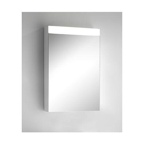 Armoire de toilette Schneider CARELine WSC/HP/S 60/1/LED/L 145.263, préparée pour le montage de 2 distributeurs, Exécution: Norme UE sans poignées - 145.263.02.02