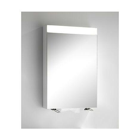 Armoire de toilette Schneider CARELine WSC/HP/S 60/1/LED/R 145.264, préparée pour le montage de 2 distributeurs, Exécution: Norme UE sans poignées - 145.264.02.02