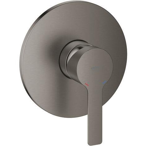 Grohe Linear Mitigeur de douche, rosette ronde, Coloris: graphite dur brossé - 24063AL1