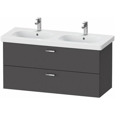 Duravit XBase meuble sous-vasque suspendu L:120cm avec 2 tiroirs, XB61940, Coloris: Décor graphite mat - XB619404949