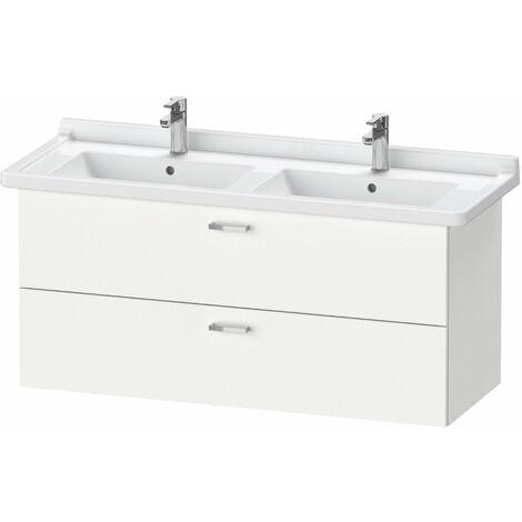 Duravit XBase meuble-lavabo mural L:120 cm avec 2 tiroirs, XB61880, Coloris: Décor blanc mat - XB618801818