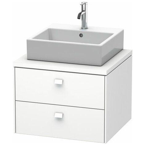 Duravit Brioso meuble-lavabo pour console 62,0 x 55,0 cm, 2 tiroirs, avec découpe pour siphon et tablier, Couleur (avant/corps): Décor chêne européen, manche chromé - BR511501052
