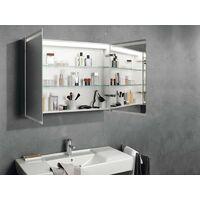 Keramag Armoire de toilette Geberit Option avec éclairage, deux portes, largeur 90 cm, 500583001 - 500.583.00.1