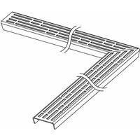 """Grille design TECEdrainline \""""basic\"""" pour canal coudé 90 degrés, 611210, 1200mm, poli - 611210"""