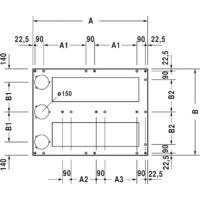 Duravit Cadre de base pour receveurs de douche 120x80 cm, réglable en hauteur 8-10 cm - 790170000000000