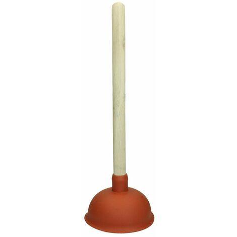 Déboucheur d´évier 135 mm avec manche en bois