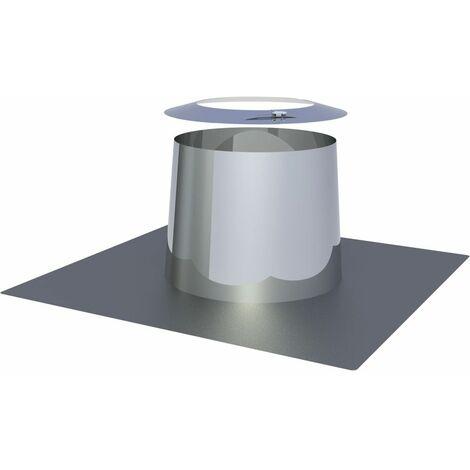 Solin toit plat conique inox Diam 200 mm