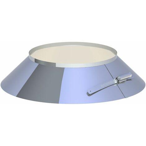 Collerette de solin inox Diam 200 mm avec bord