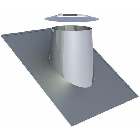 Solin de toit inox Diam 200 mm pour inclinaison 26-35°
