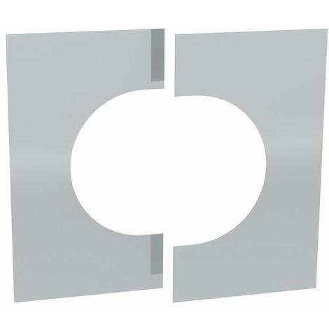 Cache murale/plafond inox deux pièces 0-30°