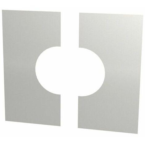 Cache murale/plafond inox deux pièces 0°