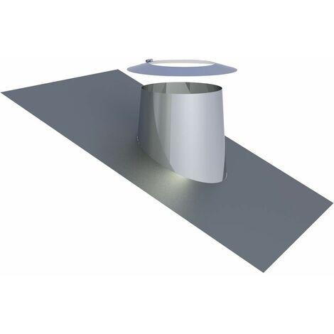 Solin de toit avec bord en plomb 16-25° Diam 200 mm inox
