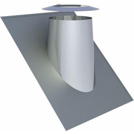 Solin de toit inox 36-45° Diam 200 mm