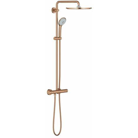 Colonne de douche avec thermostat warm sunset brossé Euphoria System 310