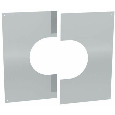Cache murale/plafond inox deux pièces 31-45°