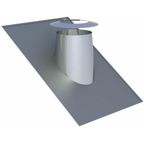 Solin de toit 26-35° inox avec bord en plomb