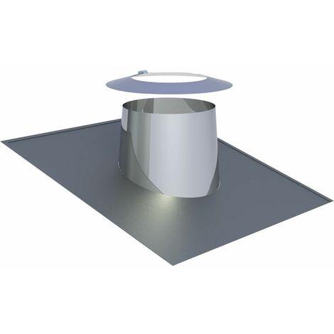 Solin de toit Diam 130 mm inclinaison 5-15°