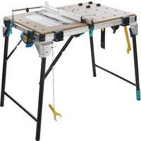 Etabli Pliant pour Machine, Multifonction, Réglable en hauteur MasterCut 2600 - wolfcraft 6918000