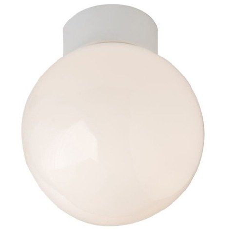 Traditional Opal Glass Globe IP44 Bathroom Ceiling Light Fitting by Happy Homewares