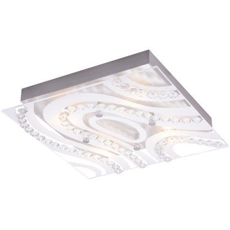 Modern LED Bathroom Light with Clear/Frosted Glass Plate by Happy Homewares