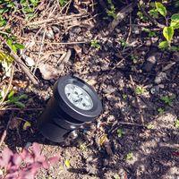 Matt Black Die-Cast Aluminium LED Powered IP65 Outdoor Adjustable Spike Light by Happy Homewares