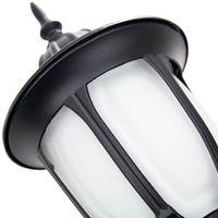 Traditional Matt Black Cast Aluminium Outdoor IP44 Wall Lantern Light Fixture by Happy Homewares