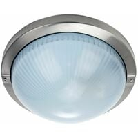 Contemporary Stainless Steel IP44 Bathroom or Outdoor Ceiling/Wall Light Fitting by Happy Homewares