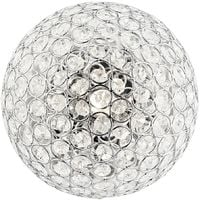 Modern Chrome and Clear Glass IP44 Rated Bathroom Ceiling Light by Happy Homewares