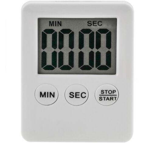 PrimeMatik - Magnetic kitchen timer. Digital time control in white color