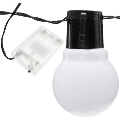 PrimeMatik - Decorative LED garland of 10 lights type warm white balloon for interior 3 ma piles