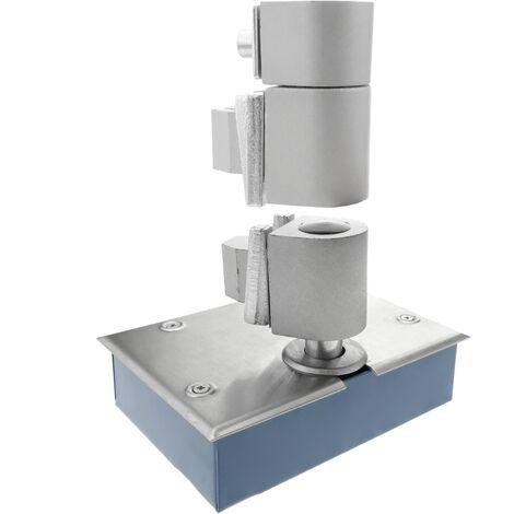 PrimeMatik - Floor spring door closer 100Kg 1000mm 156x110x42mm with pins