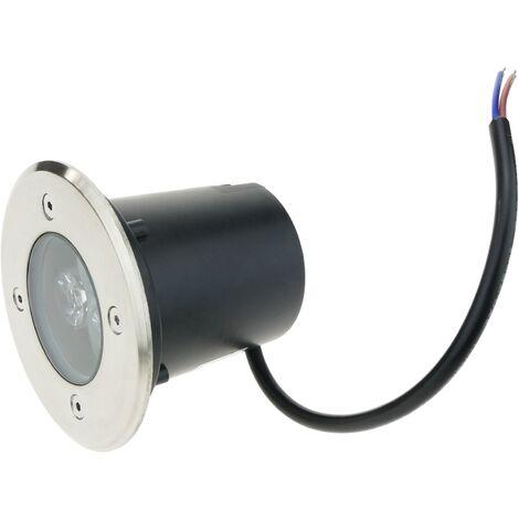 BeMatik - LED spotlight 3W 80mm. White light 6000K day