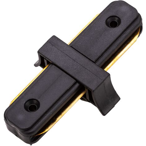 BeMatik - Connecting piece for lighting rail. 1-way straight black junction