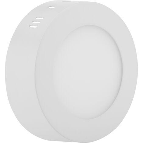 BeMatik - Circular surface downlight LED Panel 6W Warm White 120mm