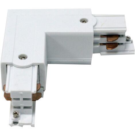 BeMatik - Union elbow fitting for ceiling light rail lane 3-via white