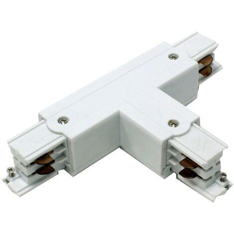 BeMatik - Union triple junction for rail ceiling light rail via 3-white