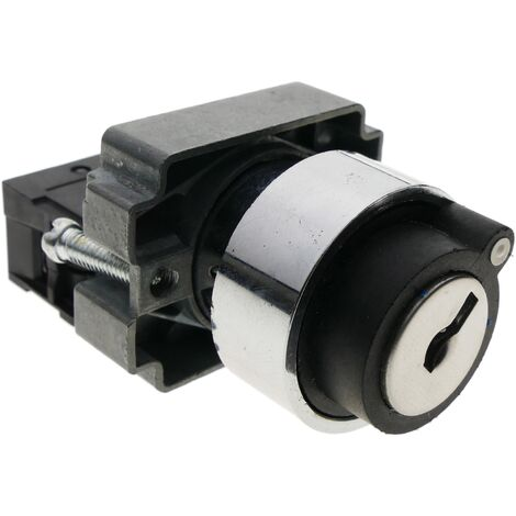 BeMatik - Rotary selector switch 22mm 1NO 400V 10A 2-position normally open with key