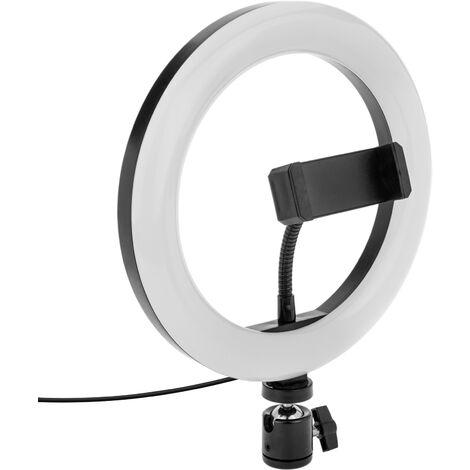 BeMatik - Circular LED ring 20 cm 14.4 W 6500 K with mobile holder